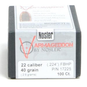 Nosler .224 / 22 40 Grain Varmageddon Flat Base Hollow Point (100)
