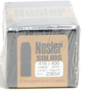 Nosler .416 / 416 400 Grain Flat Point Dangerous Game Solid (25)