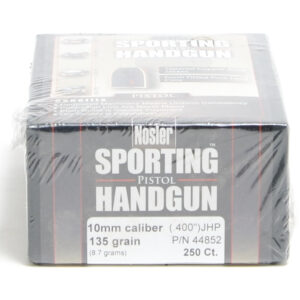 Nosler .400 / 40 135 Grain Jacketed Hollow Point (250)