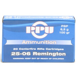 Prvi Ammo 25-06 Rem 100 Grain Pointed Soft Point (20)