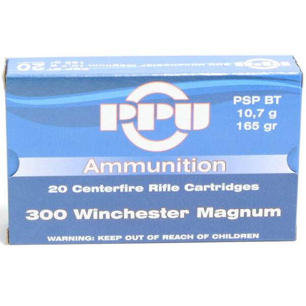 Prvi Ammo 300 Win Magnum 165 Grain Pointed Soft Point Boat Tail (20)