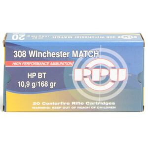 Prvi Ammo 308 Win 168 Grain Hollow Point Boat Tail Match (20)