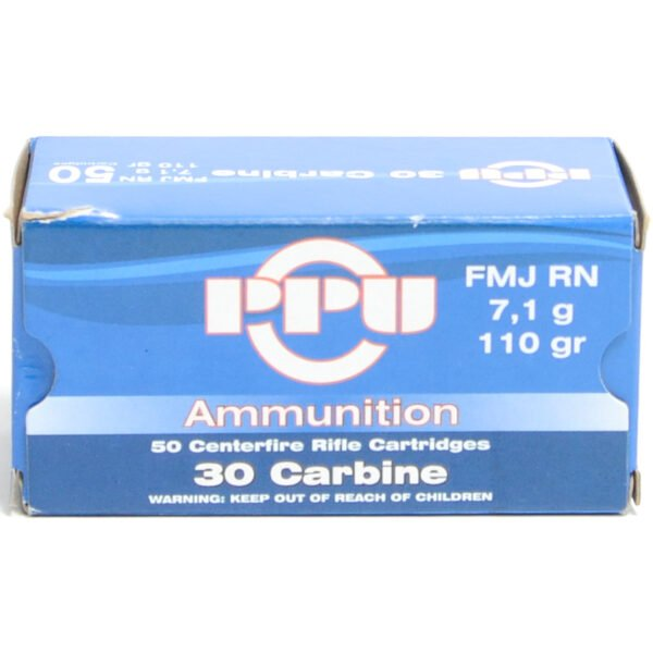 Prvi Ammo 30M1 Carbine 110 Grain Full Metal Jacket Round Nose(50)