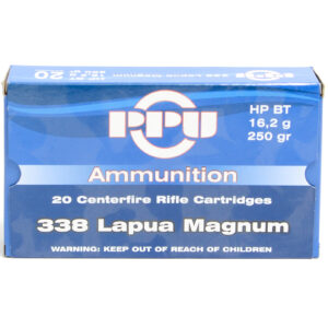 Prvi Ammo 338 Magnum Lapua 250 Grain Hollow Point Boat Tail (20)