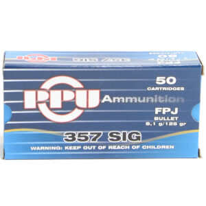 Prvi Ammo 357 Sig 125 Grain Jacket Flat Point (50) 20/Cs