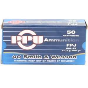 Prvi Ammo 40 S&W 165 Grain Flat Point Jacket (50) 10/Cs