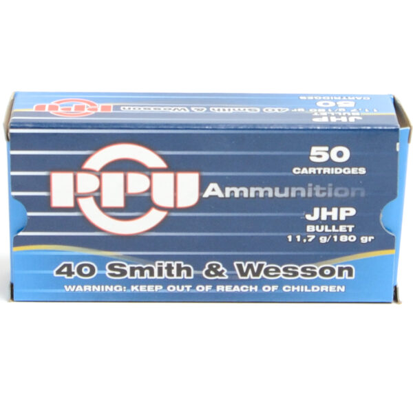 Prvi Ammo 40 S&W 180 Grain Jacketed Hollow Point (50) 10/Cs