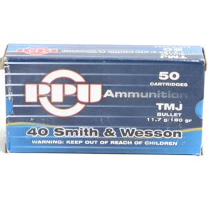 Prvi Ammo 40 S&W 180 Grain Total Metal Jacket (50) 10/Cs