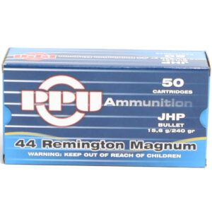 Prvi Ammo 44 Magnum 240 Grain Jacketed Hollow Point (50) 10/Cs