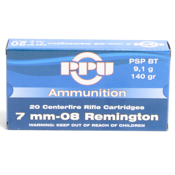 Prvi Ammo 7mm-08 Rem 140 Grain Pointed Soft Point Boat Tail (20)