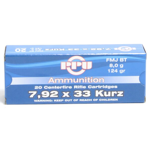 Prvi Ammo 7.92X33 Kurz 124 Grain Full Metal Jacket (20)