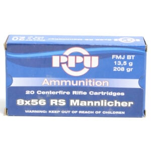 Prvi Ammo 8X56 Rs Hungarian Mannlicher 208 Grain Full Metal Jacket Boat Tail (20)