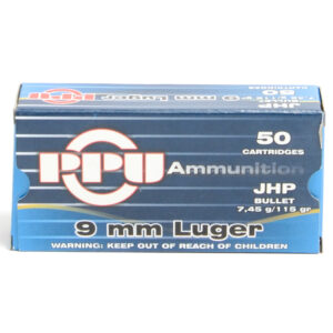 Prvi Ammo 9mm Luger 115 Grain Jacketed Hollow Point (50)