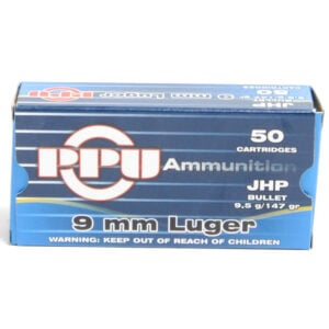 Prvi Ammo 9mm Luger 147 Grain Jacketed Hollow Point (50)