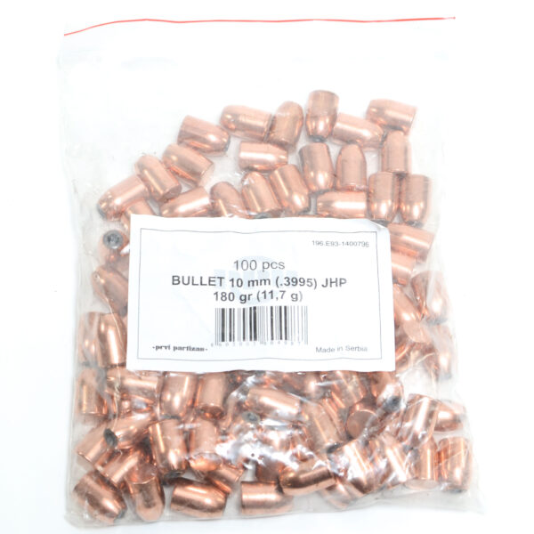 Prvi .400 / 40-10mm 180 Grain Jacketed Hollow Point (100)