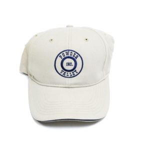 Powder Valley Hat Tan Brushed Twill W/ Navy Logo