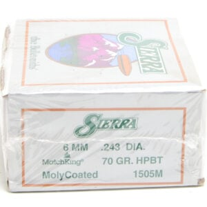 Sierra .243 / 6mm 70 Grain Hollow Point Boat Tail Moly Coated (500)