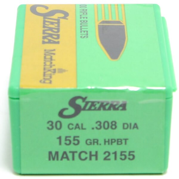 Sierra .308 / 30 155 Grain Hollow Point Boat Tail MatchKing (100)