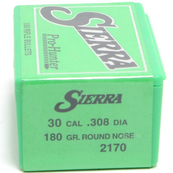 Sierra .308 / 30 180 Grain Round Nose Pro-Hunter-Hunter (100)