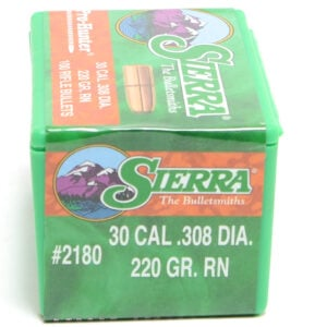 Sierra .308 / 30 220 Grain Round Nose Pro-Hunter-Hunter (100)