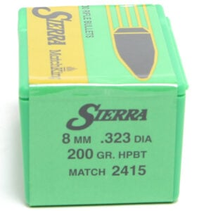 Sierra .323 / 8mm 200 Grain Hollow Point Boat Tail MatchKing (100)