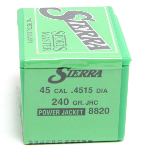 Sierra .4515 / 45 240 Grain Jacketed Hollow Cavity (100)
