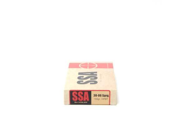 SSA Ammo 30-06 Springfield 155 Grain Nosler Custom Competition (Open Tip Match) Hollow Point Boat Tail (20) 20/Cs