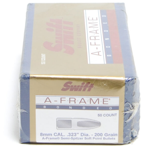 Swift .323 / 8mm 200 Grain A-Frame Semi-Spitzer (50)
