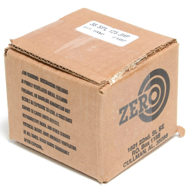Zero .357 / 38 Special 125 Grain Jacketed Hollow Point (500)