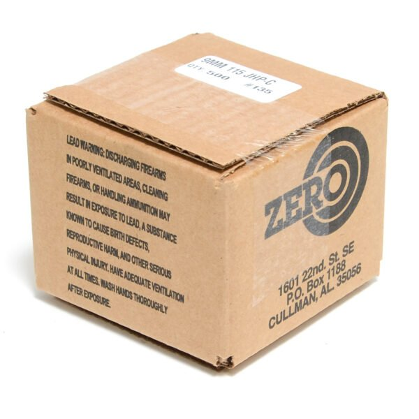 Zero .355 / 9mm 115 Grain Jacketed Hollow Point-C (500)