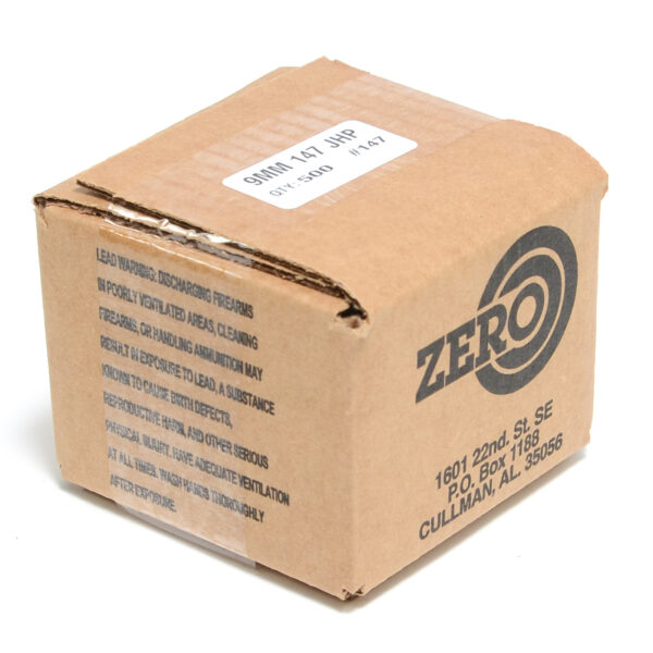 Zero .355 / 9mm 147 Grain Jacketed Hollow Point (500)