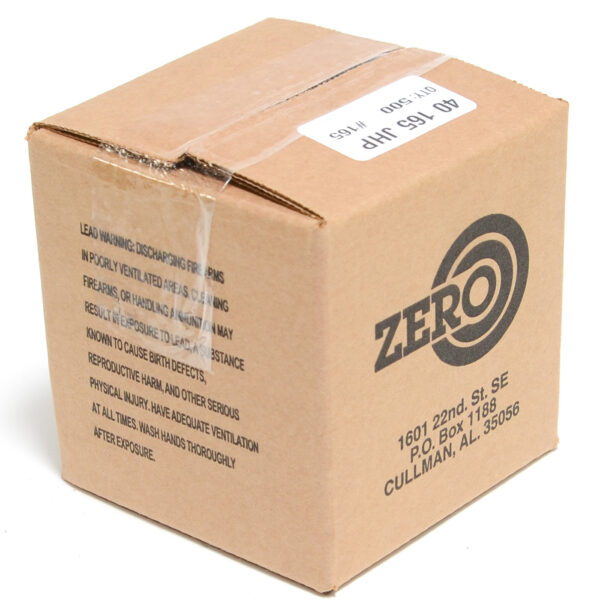 Zero .400 / 40 S&W 165 Grain Jacketed Hollow Point (500)