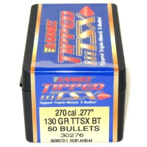 Barnes .277 / 6.8mm 130 Grain Tipped Triple-Shock X Boat Tail Bullet (50)