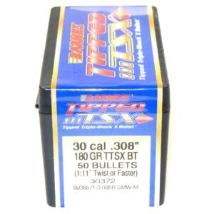 Barnes .308 / 30 180 Grain Tipped Triple-Shock X Boat Tail Bullet (50)