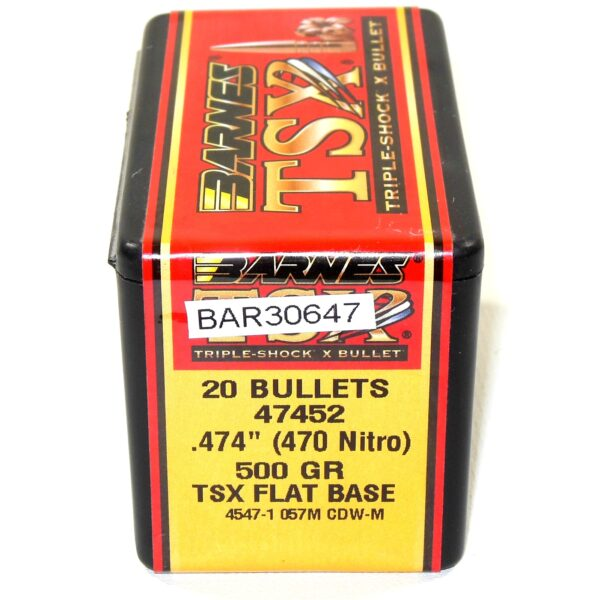 Barnes .474 / 470 Nitro 500 Grain Triple-Shock X (20)