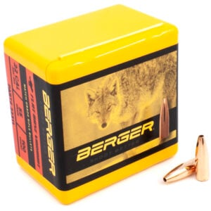 Berger .224 / 22 55 Grain Match Varmint Flat Base (100)