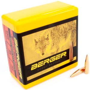 Berger .243 / 6mm 88 Grain High Ballistic Coefficient Varmint Flat Base (100)