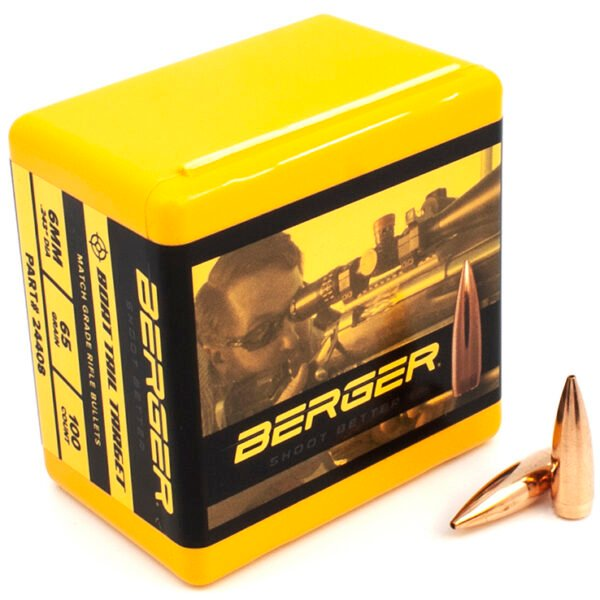 Berger .243 / 6mm 65 Grain Target Boat Tail (100)