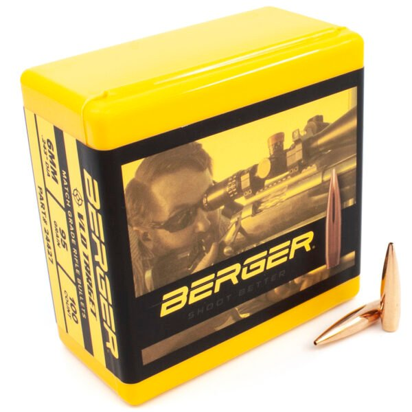 Berger .243 / 6mm 95 Grain Target Very Low Drag (100)