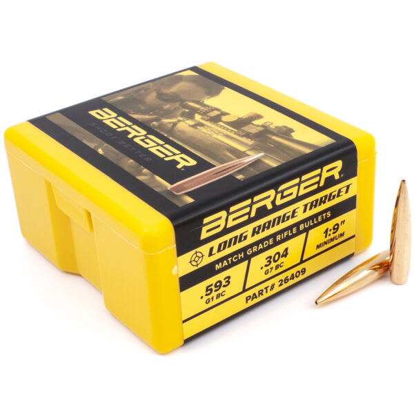 Berger .264 / 6.5mm 140 Grain Target Boat Tail Long Range (100)
