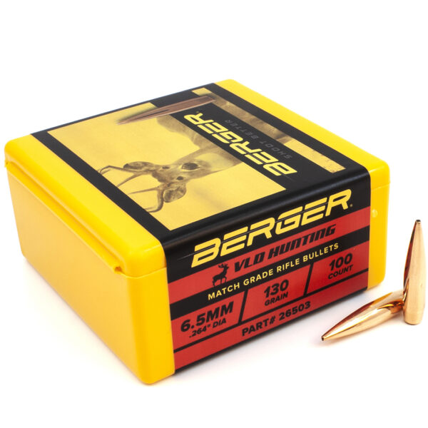 Berger .264 / 6.5mm 130 Grain Hunting Very Low Drag (100)