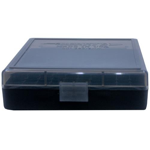 Berrys Ammo Box 380/9mm Snap Hinged 100 #001 Smoke 50/Cs