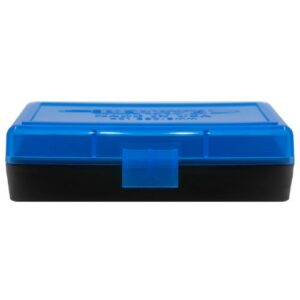 Berrys Ammo Box 380/9mm Hinged Top 50 #401 Blue 50/Cs