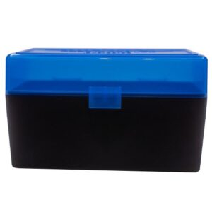 Berrys Ammo Box 243/308 Hinged Top 50 #409 Blue 50/Cs