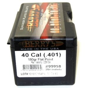 Berrys .401 / 40 180 Grain Flat Point (250)