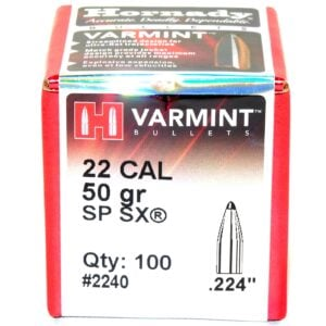 Hornady .224 / 22 50 Grain Soft Point SX (100)