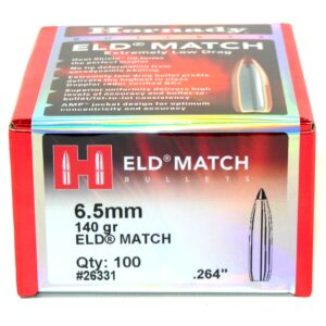 Hornady .264 / 6.5mm 140 Grain ELD-M (Extremely Low Drag Match) (100)