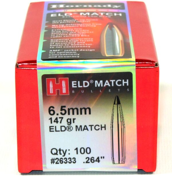Hornady .264 / 6.5mm 147 Grain ELD-M (Extremely Low Drag Match) (100)