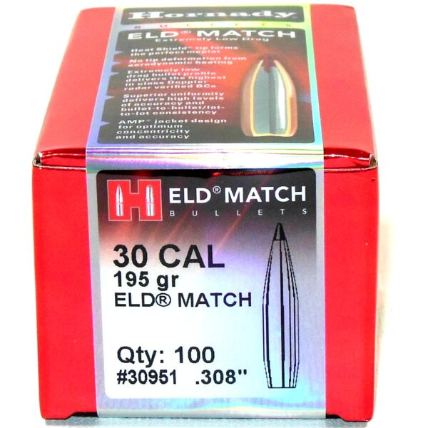 Hornady .308 / 30 195 Grain ELD-M (Extremely Low Drag Match) (100)
