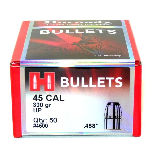 Hornady .458 / 45 300 Grain Hollow Point (50)